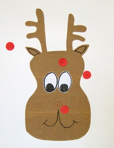Pin the nose on rudolph new calendar template site for Reindeer tail template