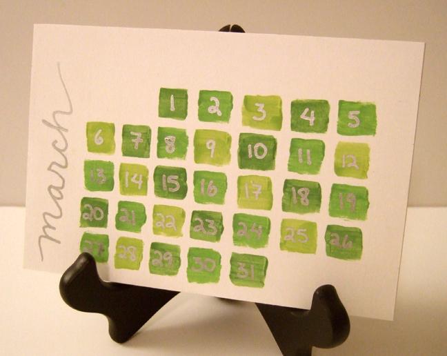 Creative Handmade Calendar : Days of green a handmade calendar rachel swartley