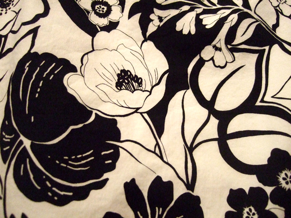 Black and white with a grosgrain hem rachel swartley black and white floral mightylinksfo