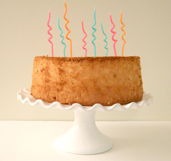Eight Spiral Candles On An Angel Food Cake Rachel Swartley