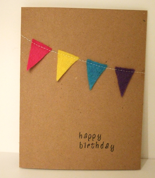 Mini bunting birthday card rachel swartley so quick bookmarktalkfo Choice Image